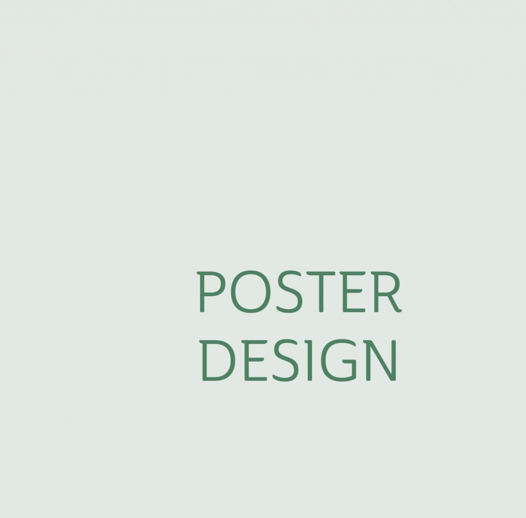 poster design green small
